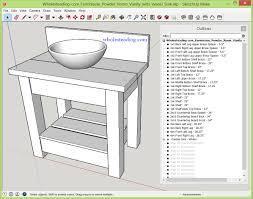 Powder Room Vanity With Vessel Sink Wholesteading Com Sketchup Plan Farmhouse Powder Room Vanity