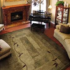 Lowes Laminate Flooring Canada Shop Allen Roth Holder Rectangular Green Block Tufted Area Rug