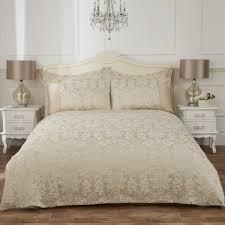 victoria gold damask jacquard luxury duvet cover julian charles