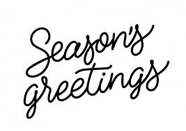 seasons greetings inscription vector free