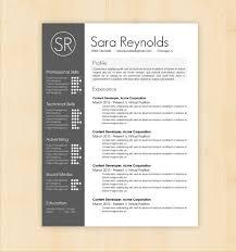 Cv Resume Format Resume Template Cv Template The Sara Reynolds Resume Design