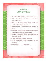 hiral shukla library rules
