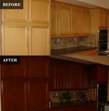 can you paint stained cabinets pegasus refinishing home