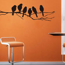 amazon com wall stickers decal removable black bird tree branch amazon com wall stickers decal removable black bird tree branch art home mural decor home kitchen