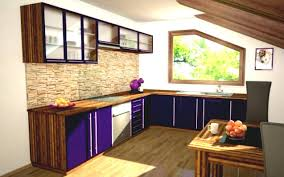 kitchen islands l shape kitchen design with purple drawers and