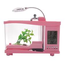 Fish Tank Desk by Multifunctional Usb Fish Tank Alarm Clock Pen Container Desk Lamp