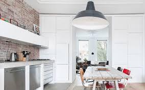 kitchen concrete kitchen countertops with brick wall kitchen