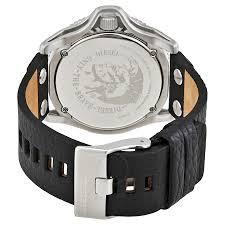 diesel rollcage black dial men u0027s leather watch dz1790 diesel