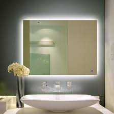 light up wall mirror bathroom lighting illuminated wall mirror light up with clock built