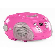 Pink Colour by Goodmans Portable Top Loading Cd Boombox With Fm Mw Radio In Pink
