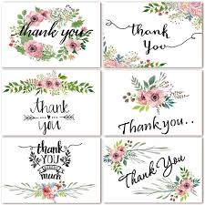 thank you cards bulk thank you cards floral flower greeting cards 48 assorted bulk box