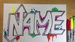 Name Style Design by Drawing Your Name Hd 001 Graffiti Style Cool Youtube