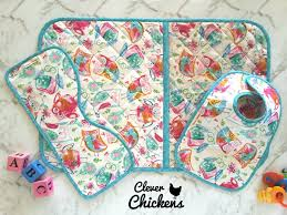 chagne gift set wipeable change pad quilted change mat baby bib burp cloth