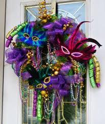 mardi gras mesh mardi gras feather wreath purple yellow and green mardi gras new