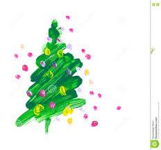 brush stroke green christmas tree stock illustration image