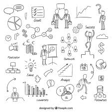 sketchy business elements vector free download