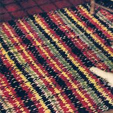 Area Rug Patterns Colorful Woven Crochet Area Rug Pattern Vintage 1950s