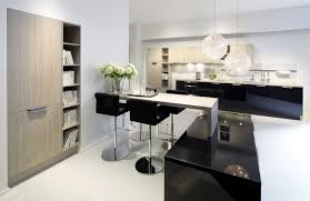 Black Kitchen Island Kitchen Wooden Floor Ceiling Light Black Kitchen Cabinet White