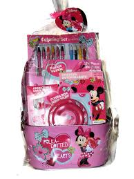 Minnie Mouse Easter Stickers Buy Minnie Mickey Mouse Easter Basket With Coloring Set Sidewalk
