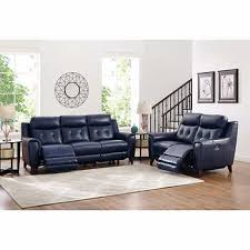 blue reclining sofa and loveseat massari blue top grain leather power reclining sofa and loveseat