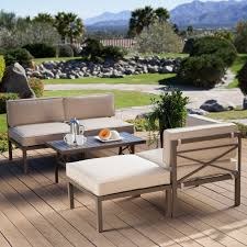 Aluminum Patio Furniture Set - have to have it coral coast bellagio 5 piece aluminum sectional