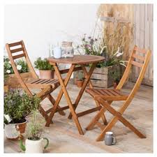 Tesco Bistro Chairs Buy Wooden Garden Bistro Set From Our Wooden Garden Furniture