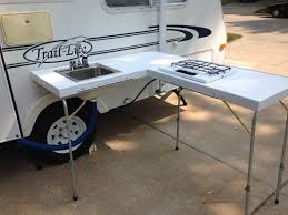 Outdoor Kitchens For Camping by My Homemade Outdoor Galley Ver2 0 Rv Camping Pinterest