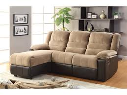 Two Tone Reclining Sofa 48 Sofa With Chaise Lounge And Recliner Huxley Two Tone Sectional