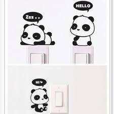 Bathroom Door Stickers Panda Switch Stickers Special Offer 3 8 Yuan Three Bathroom Door