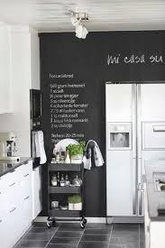 mur noir cuisine tableau de craie 23 décors de cuisine personnalisé