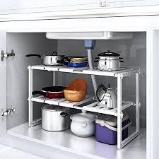 under sink storage tidy amazon co uk kitchen home homfa under sink shelf extendable storage stainless steel rack