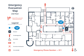 Fire Extinguisher Symbol Floor Plan How To Create A Simple Building Evacuation Diagram
