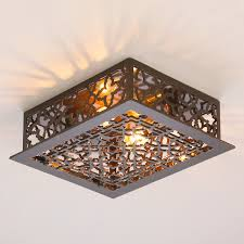 Flush Ceiling Light Fixtures Reproduction Iron Grate Flush Mount Ceiling Light Shades Of Light