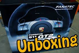 fanatec porsche 911 gt2 wheel unboxing youtube