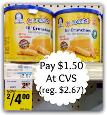graduates snacks gerber graduates snacks 1 50 each at cvs coupon karma