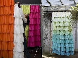 Ruffle Shower Curtain Anthropologie Desire Acquire Ruffled Shower Curtain Popsugar Home