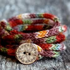 women u0027s wrap bracelet knitting pattern rustic i cord