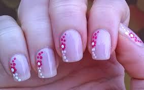 life world women pastel pink nail art with dotting tool design