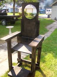 diy electric chair halloween decorations yard props decor