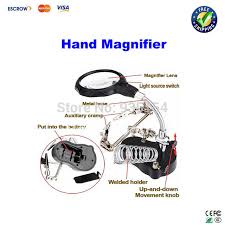 magnifier with led light 3 5x 12x helping hand magnifier led light with soldering stand