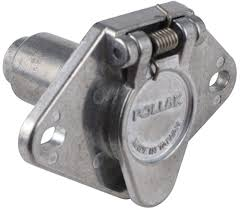 pollak 4 pole round pin trailer wiring socket review video