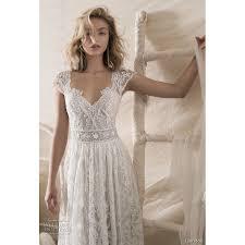 lihi hod wedding dress lihi hod fall winter 2018 sabine ivory sweep vintage v neck