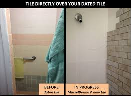 How To Tile A Bathroom Shower Wall Musselbound Adhesive Tile Mat Diy Do It Yourself Projects