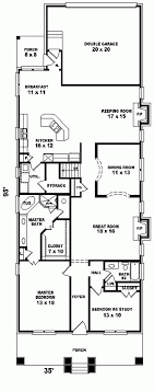 narrow lot house plan 10 best lay out images on small houses architecture
