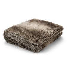 Fake Fur Throws Dartmoor Chocolate Faux Fur Throw At Laura Ashley