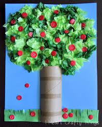 apple tree craft cardboard rolls tree crafts and apple tree