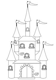 fantasy castle coloring free printable coloring pages