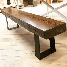 the top of this bench is made out of douglas fir finished in kona