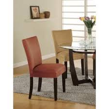 camel microfiber parson chair