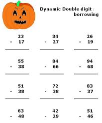 subtraction worksheets with borrowing worksheets